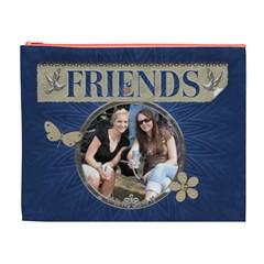 Friends Xl Cosmetic Bag By Lil    Cosmetic Bag (xl)   V4q2hxm66ln4   Www Artscow Com Front