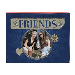 Friends Xl Cosmetic Bag By Lil    Cosmetic Bag (xl)   V4q2hxm66ln4   Www Artscow Com Back