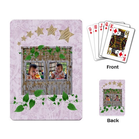Flirty2 Card By Kdesigns   Playing Cards Single Design (rectangle)   I2d1rehixu88   Www Artscow Com Back