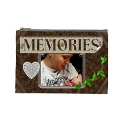 Memories Large Cosmetic Bag By Lil    Cosmetic Bag (large)   G85zjynbjeq5   Www Artscow Com Front