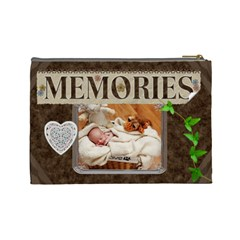 Memories Large Cosmetic Bag By Lil    Cosmetic Bag (large)   G85zjynbjeq5   Www Artscow Com Back