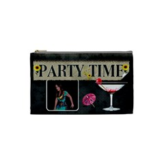 Party Time Small Cosmetic Bag By Lil    Cosmetic Bag (small)   Mcciciq11jzj   Www Artscow Com Front