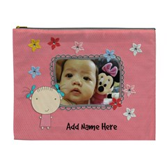 Xl Cosmetic Bag: Cute Kid By Jennyl   Cosmetic Bag (xl)   7mp8guwj1e12   Www Artscow Com Front
