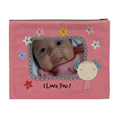 Xl Cosmetic Bag: Cute Kid By Jennyl   Cosmetic Bag (xl)   7mp8guwj1e12   Www Artscow Com Back