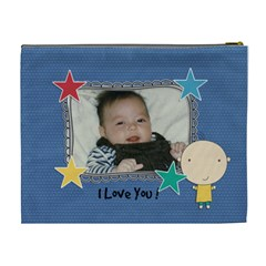 Xl Cosmetic Bag: Cute Kid Boy By Jennyl   Cosmetic Bag (xl)   Lveo7glb1b80   Www Artscow Com Back