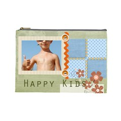 Happy Kids By Joely   Cosmetic Bag (large)   Bfdmxbrjspnx   Www Artscow Com Front