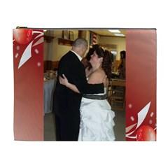 Red Wedding Cosmetic Xl Bag By Kim Blair   Cosmetic Bag (xl)   Afukii3vylf4   Www Artscow Com Front
