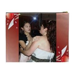 Red Wedding Cosmetic Xl Bag By Kim Blair   Cosmetic Bag (xl)   Afukii3vylf4   Www Artscow Com Back