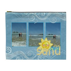 Sun Sea Sand Extra Large Cosmetic Bag By Catvinnat   Cosmetic Bag (xl)   B5ks1a4om30t   Www Artscow Com Front