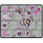 Purple Heart Cherish Medium Fleece Blanket - Fleece Blanket (Medium)