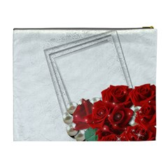 Framed With Roses (xl) Cosmetic Bag By Deborah   Cosmetic Bag (xl)   H8rk6c7c9dp2   Www Artscow Com Back