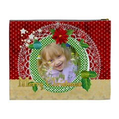 Merry Christmas By Divad Brown   Cosmetic Bag (xl)   9r5r1lhjl9z1   Www Artscow Com Back