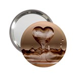 Heart Drop Mirror - 2.25  Handbag Mirror
