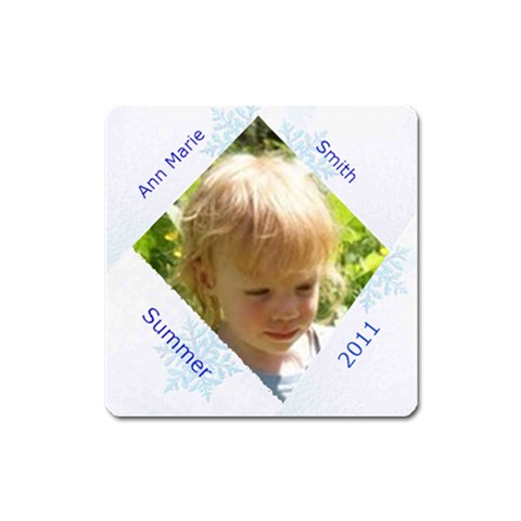 Snowflake Square Magnet By Kim Blair   Magnet (square)   Haxka791aifn   Www Artscow Com Front