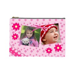Little Princess   Cosmetic Bag (large) By Picklestar Scraps   Cosmetic Bag (large)   4l0wxi6x9dr1   Www Artscow Com Front