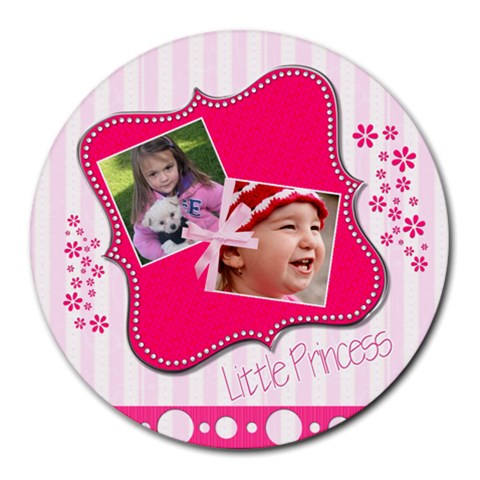 Little Princess   Round Mousepad By Picklestar Scraps   Round Mousepad   5117trytrsuc   Www Artscow Com Front