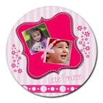 Little Princess - Collage Round Mousepad
