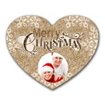 Merry Christmas Heart Mousepad Mouse Mat - Mousepad (Heart)