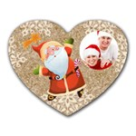 Jolly Santa Heart Mousepad Mouse Mat - Mousepad (Heart)