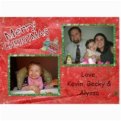 Xmas By Becky   5  X 7  Photo Cards   4wavg2zln310   Www Artscow Com 7 x5 Photo Card - 7