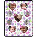 Flowers and Butterflies (medium) Fleece Blanket - Fleece Blanket (Medium)