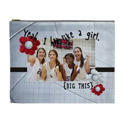 Vollyball  Cosmetic Bag (xl)  By Mikki   Cosmetic Bag (xl)   N652dpbe0nhg   Www Artscow Com Front