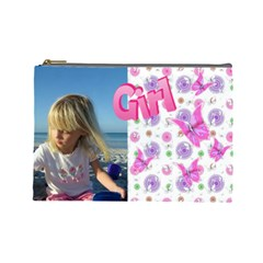 Butterfly Girl (large) Cosmetic Bag By Deborah   Cosmetic Bag (large)   9sqms9dhug3z   Www Artscow Com Front