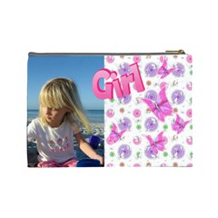 Butterfly Girl (large) Cosmetic Bag By Deborah   Cosmetic Bag (large)   9sqms9dhug3z   Www Artscow Com Back