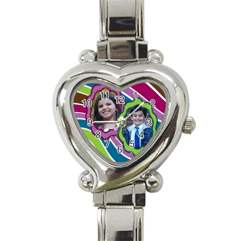 Heart Watch By Angela Anos   Heart Italian Charm Watch   Zuu6lnymthzt   Www Artscow Com Front