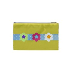 Pastel Flowers Cosmetic Bag Small By Purplekiss   Cosmetic Bag (small)   Njtexwgqj7ab   Www Artscow Com Back