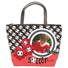 Soccer Bucket Bag By Mikki   Bucket Bag   5alcget5scml   Www Artscow Com Front