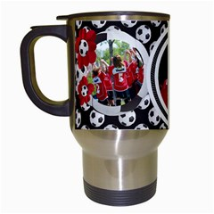 Soccer  Travel Mug By Mikki   Travel Mug (white)   Mrqsc7imk8a5   Www Artscow Com Left