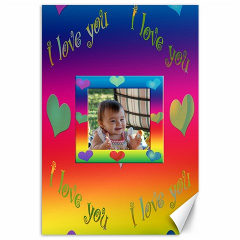Allaboutlove Canvas18x12 By Kdesigns   Canvas 12  X 18    Kcw12am06ezd   Www Artscow Com 18 x12  Canvas - 1