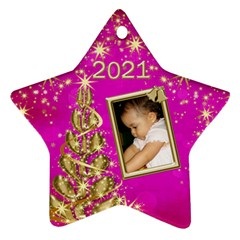 2017 Pink Star Ornament (2 Sided) By Deborah   Star Ornament (two Sides)   73mq3qbogvwz   Www Artscow Com Front