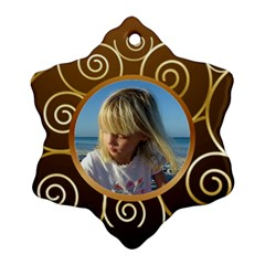 Gold On Gold Snowflake (2 Sided) By Deborah   Snowflake Ornament (two Sides)   9z4in81rrnls   Www Artscow Com Front