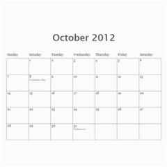Calendar 2012 By Marion Gates   Wall Calendar 11  X 8 5  (12 Months)   Wv94g5lm8brd   Www Artscow Com Oct 2012