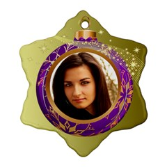 Purple Bauble Ornament (2 Sided) By Deborah   Snowflake Ornament (two Sides)   Tl8i6e518tjv   Www Artscow Com Front