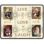 Live Love Laugh Medium Fleece Blanket - Fleece Blanket (Medium)