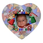 Baby s First Christmas 2011 - Ornament (Heart)