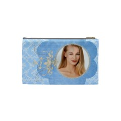 Denim N Lace Cosmetic Bag Small By Purplekiss   Cosmetic Bag (small)   0nnf58fv5bkb   Www Artscow Com Back