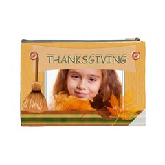 Thanksgiving By Joely   Cosmetic Bag (large)   1xdfqfc1g6mr   Www Artscow Com Back