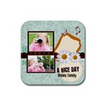 a nice day - Rubber Square Coaster (4 pack)