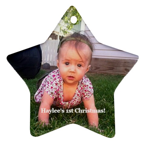 Haylees First By Jen Mccormick   Ornament (star)   12mx337gx83m   Www Artscow Com Front