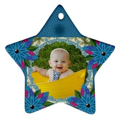 My Flower Star Oranament (2 Sides) By Lil    Star Ornament (two Sides)   Fjolsosxld9a   Www Artscow Com Front