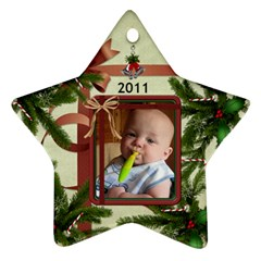 2011  Christmas Ornament By Lil    Star Ornament (two Sides)   0sxcpjzu8i2n   Www Artscow Com Front