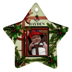 2011  Christmas Ornament By Lil    Star Ornament (two Sides)   0sxcpjzu8i2n   Www Artscow Com Back