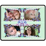 Lace and Flowers (Medium) Fleece Blanket - Fleece Blanket (Medium)