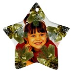 pine branch star ornament two sides - Star Ornament (Two Sides)