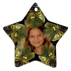 Pine Branch Star Ornament Two Sides By Kim Blair   Star Ornament (two Sides)   9vnz97txe2ve   Www Artscow Com Back