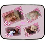 Named and Framed in Pink Mini Fleece Blanket